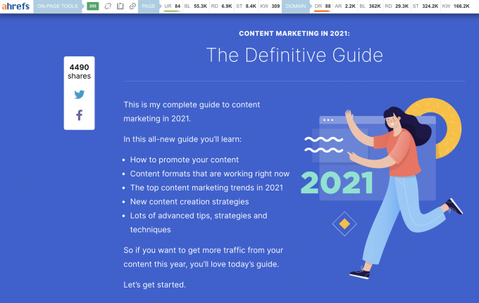 Backlinko: Content Marketing Guide in 2021